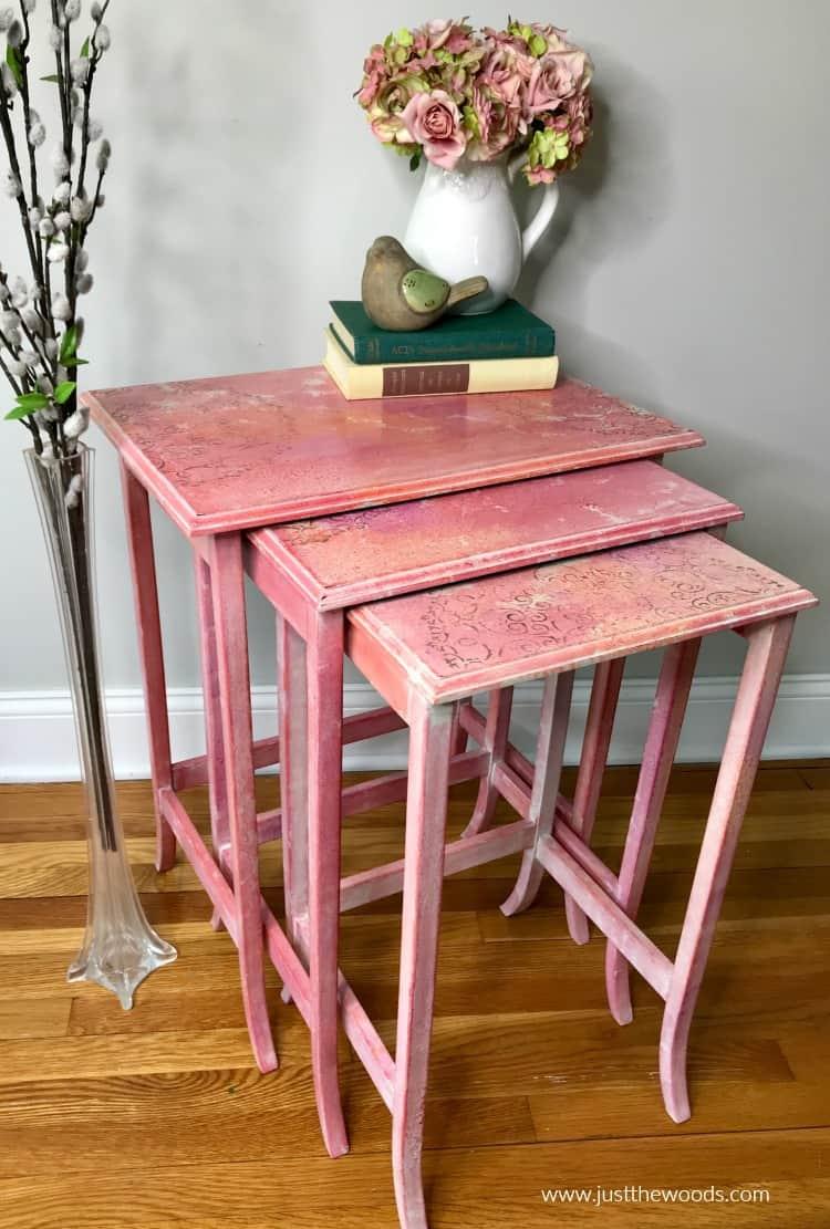 Unique Watercolor Nesting Table Design