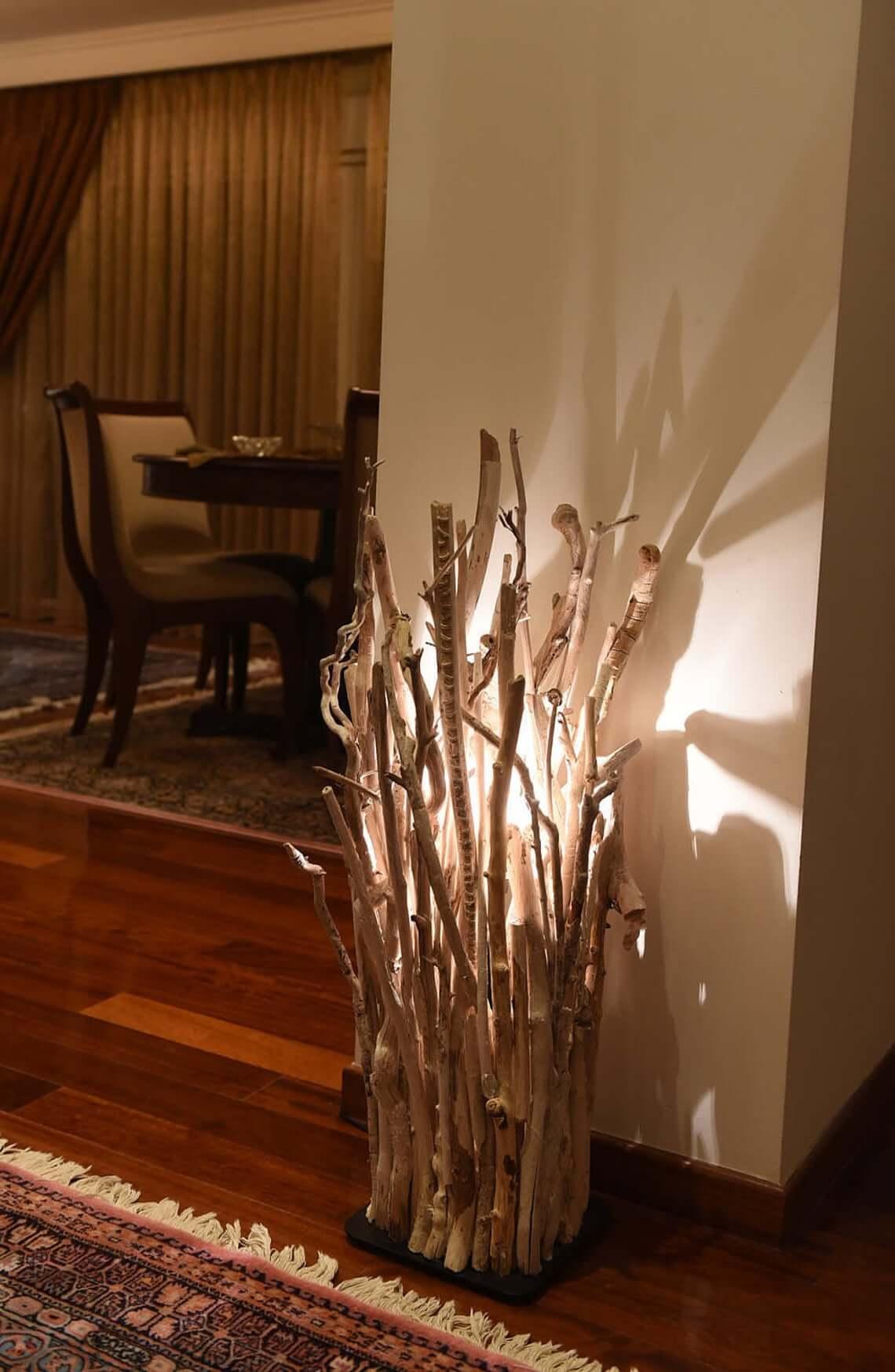 Stunning Driftwood Rustic Floor Lamp