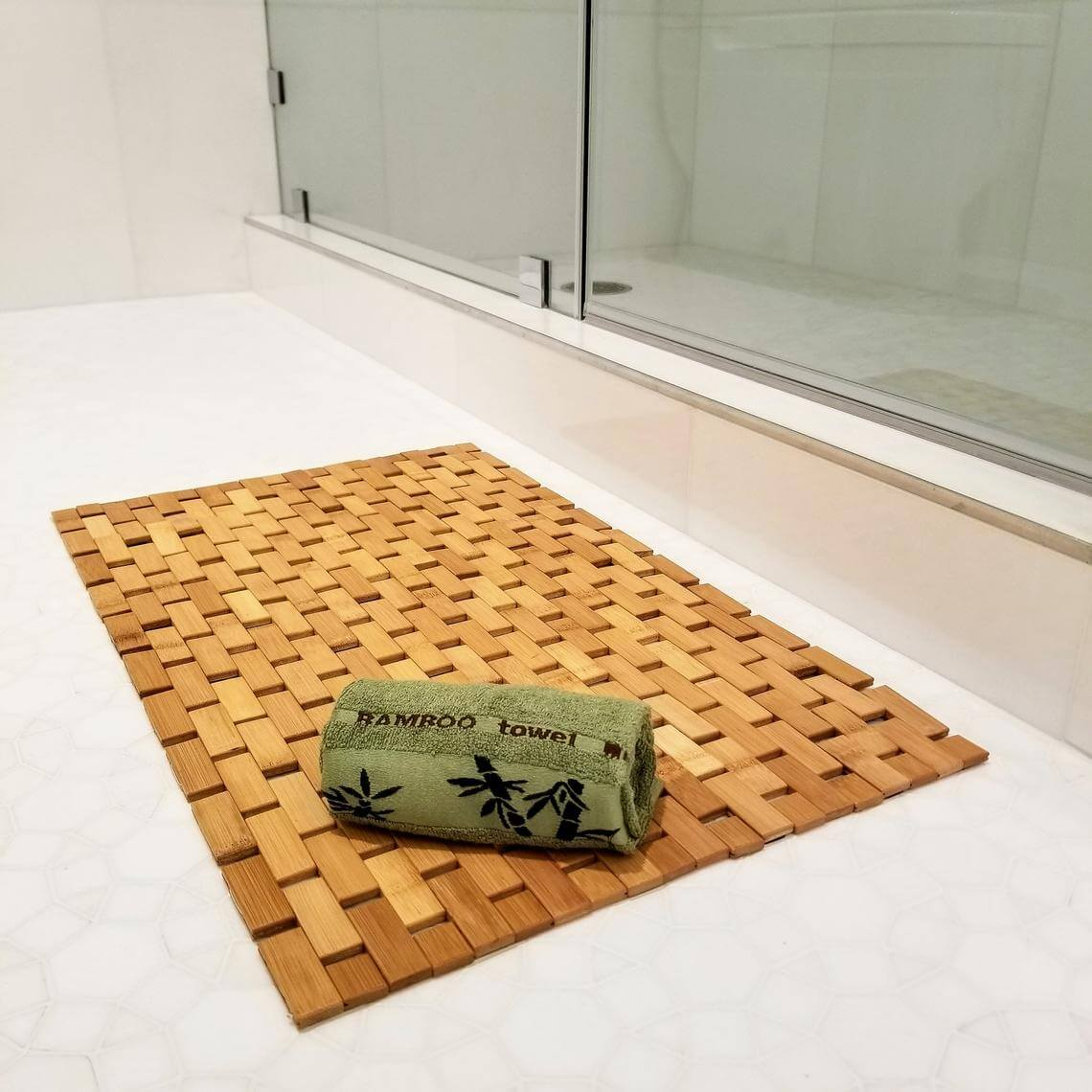 Basic Bath Mat in Blonde Bamboo