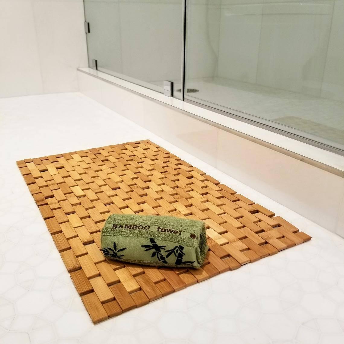 Basic Bath Mat in Blonde Bamboo