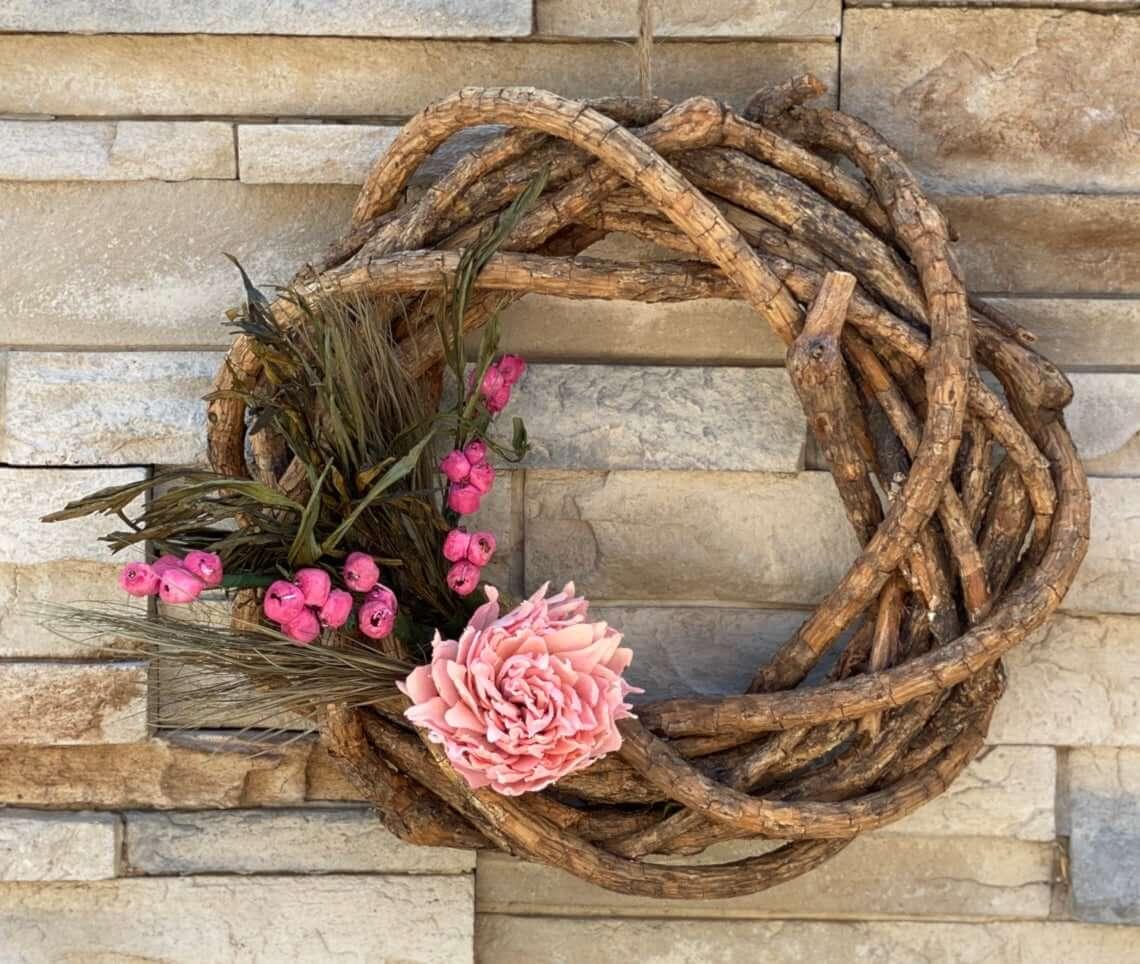 Natural Elegant Rustic Wooden Wreath