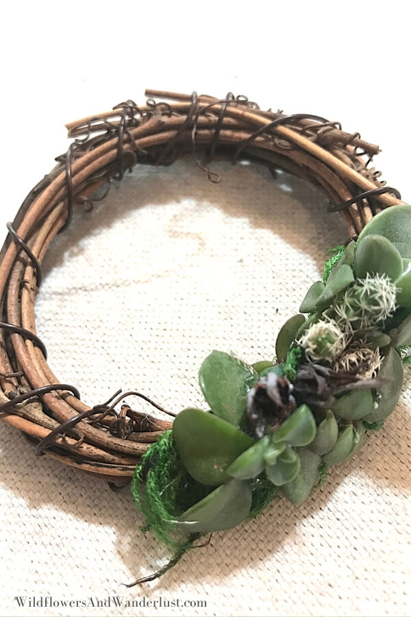 Boho Style Succulent Grapevine Wreath