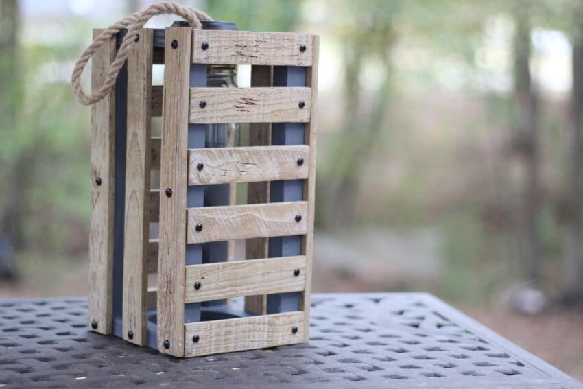 Rustic and Wooden Crate Lantern