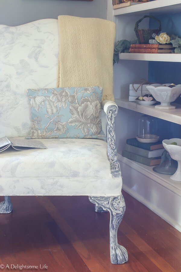 Cool Chalk Painted Upholstered Chair