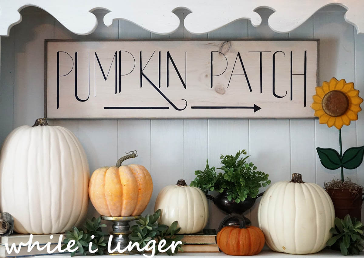 Black and White Pumpkin Patch Sign