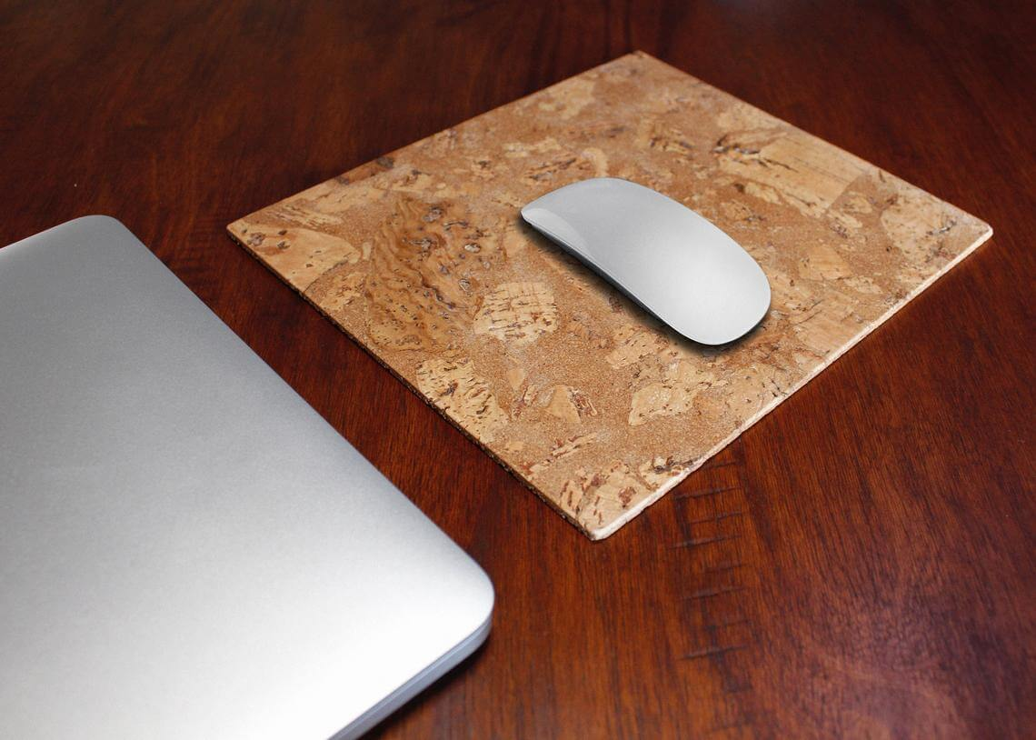 Unique and Natural Cork Mouse Pad