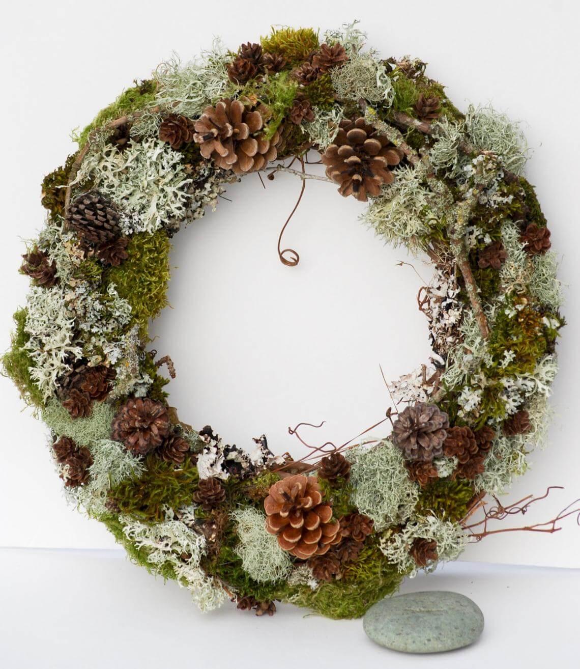 Woodland Pine Cone & Moss Wreath