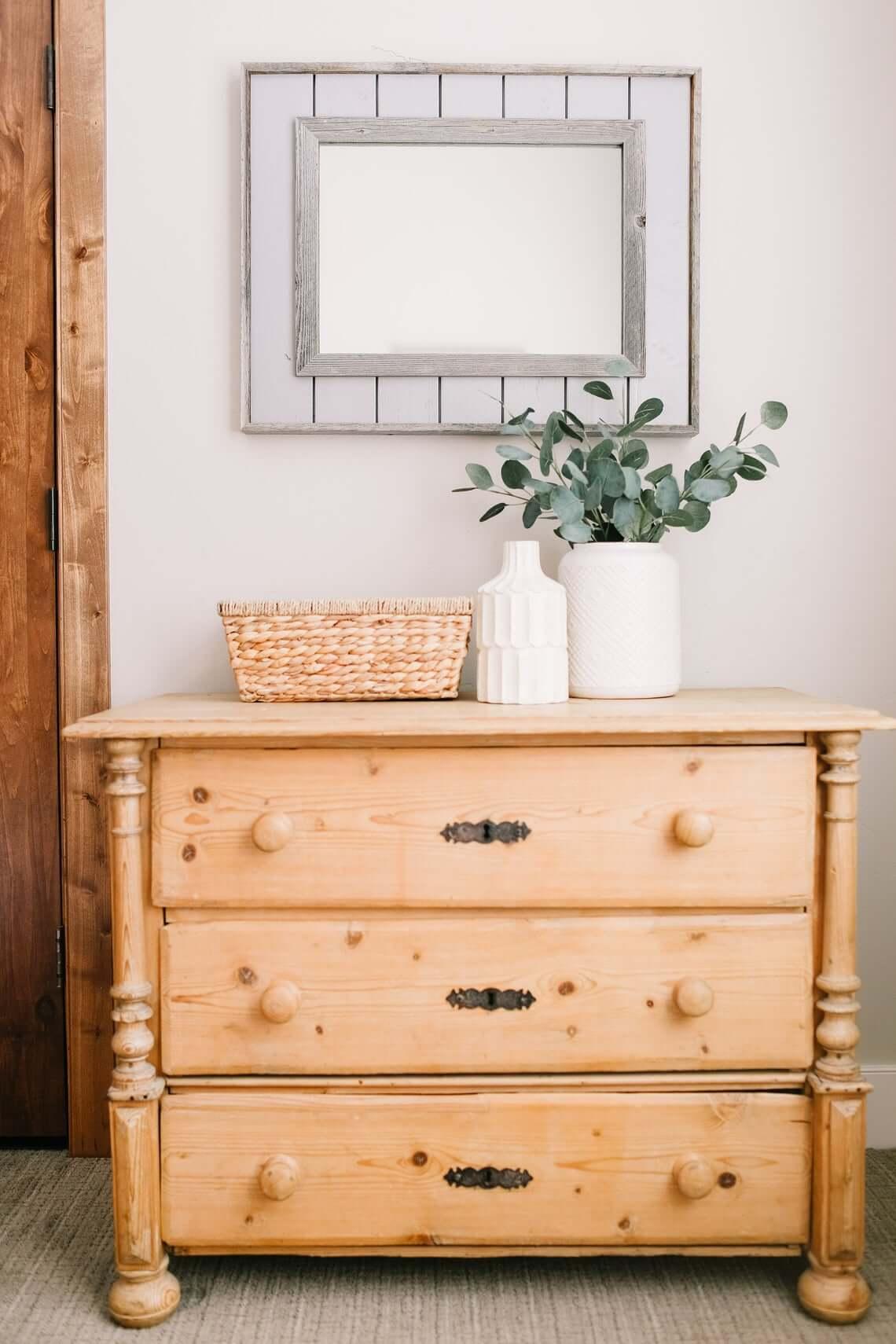 White Shiplap Framed Farmhouse Mirror