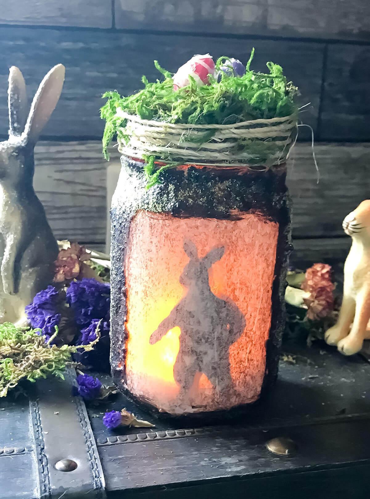 Primitive Lit Spring Hare Jar