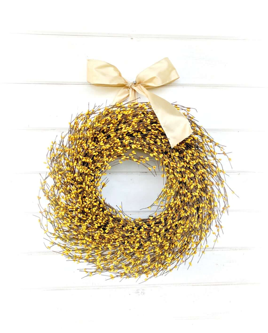 Yellow Berry Fall Harvest Time Wreath