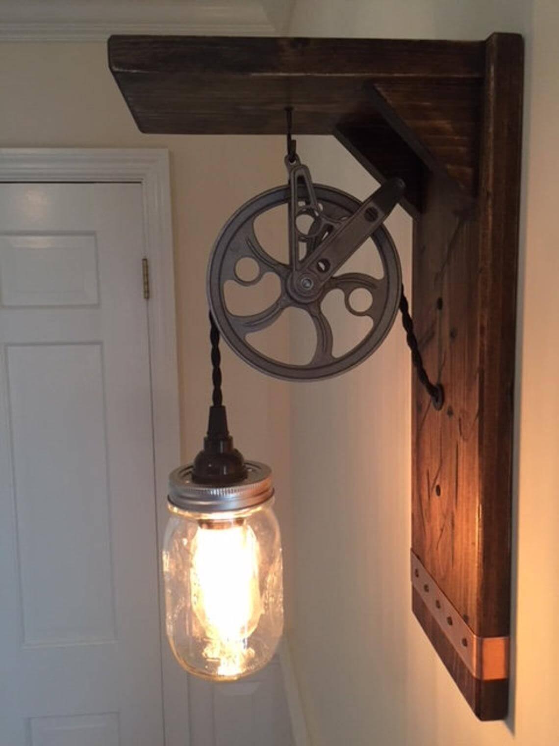 Farmhouse Steampunk Inspired Wall Lighting