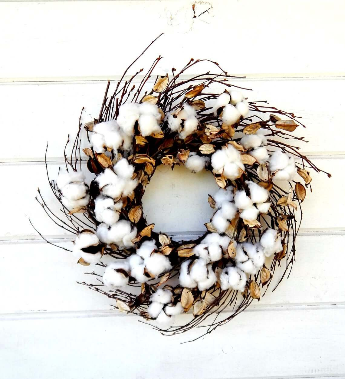 Just Rolled in Cotton Swirl Wreath