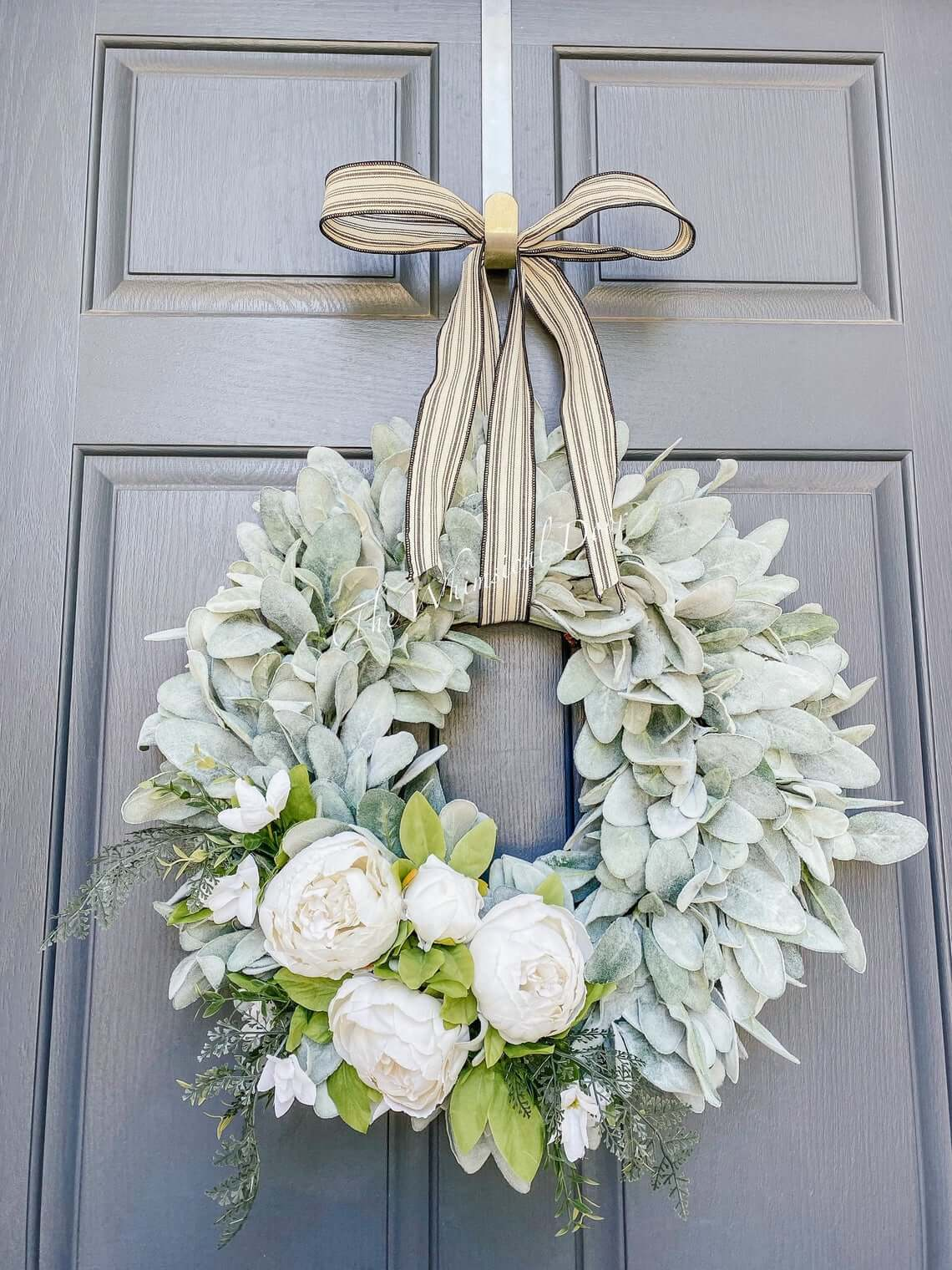 Soft and Pretty Rustic Peony Wreath