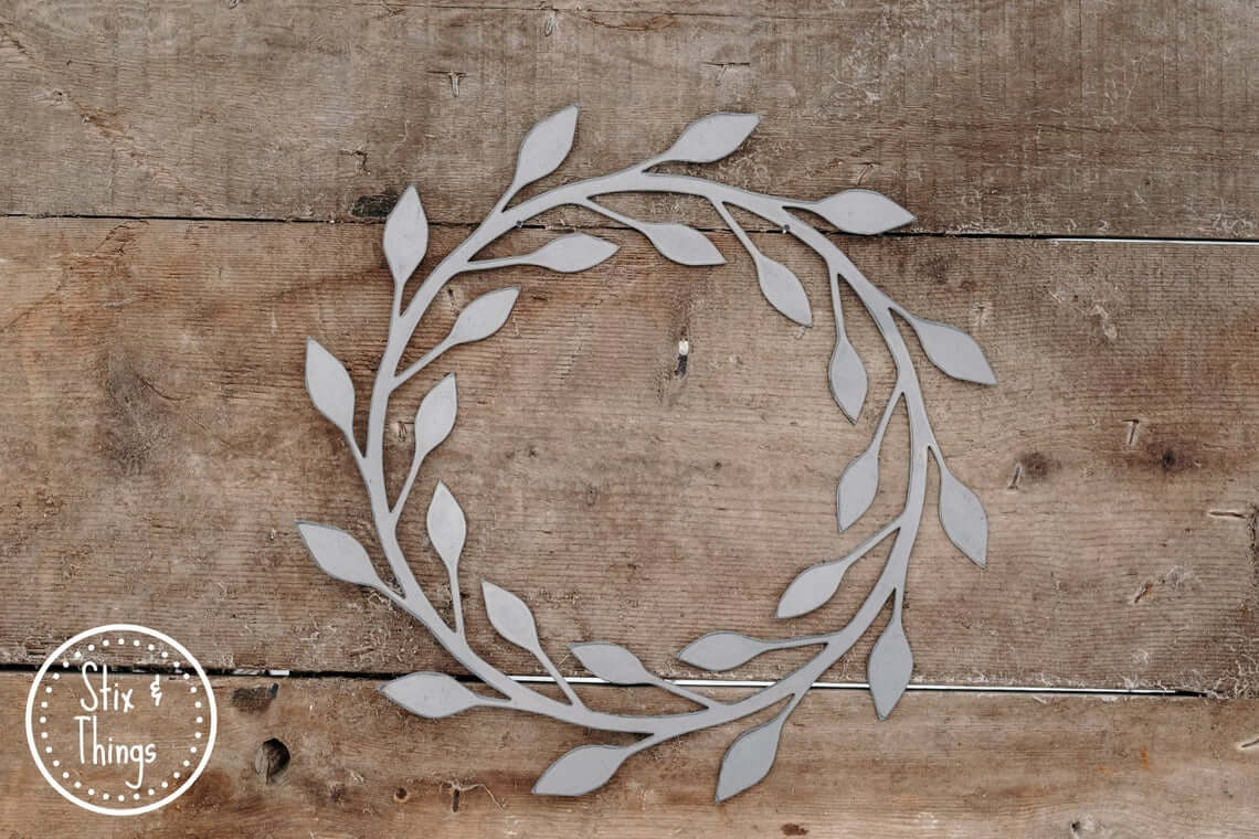 Simple Gray Wooden Berry Wreath