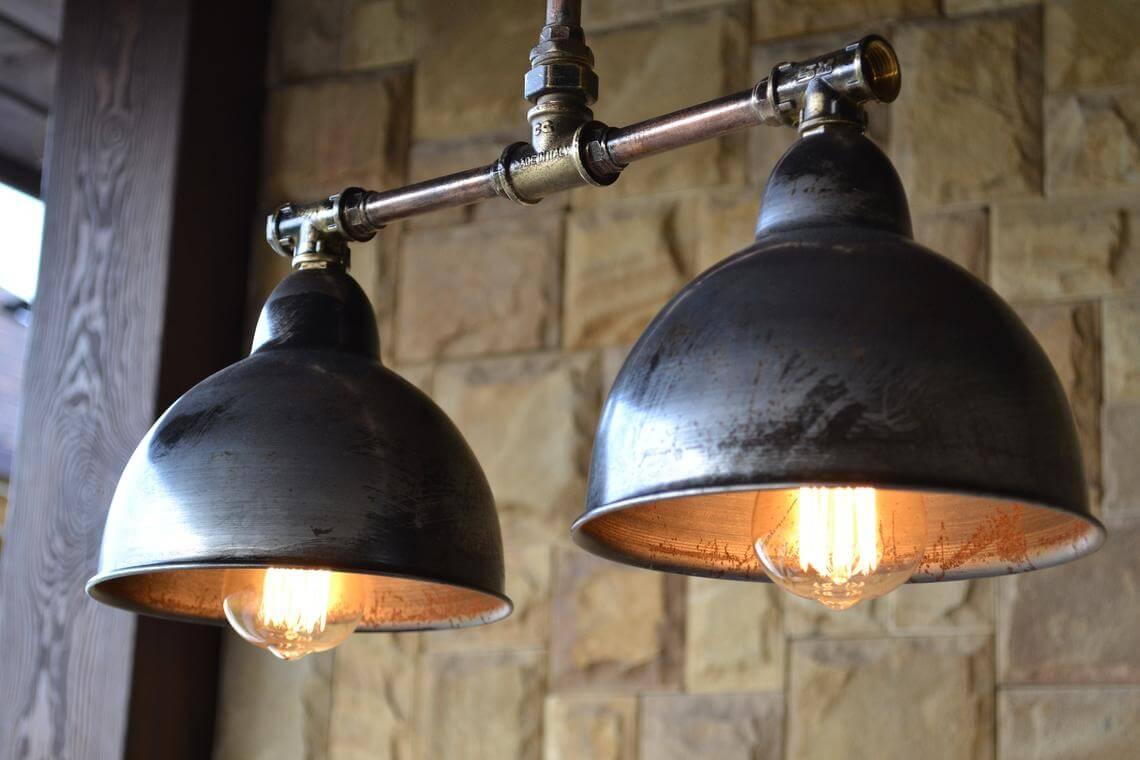 Modernized Steampunk Farmhouse Pendant Light
