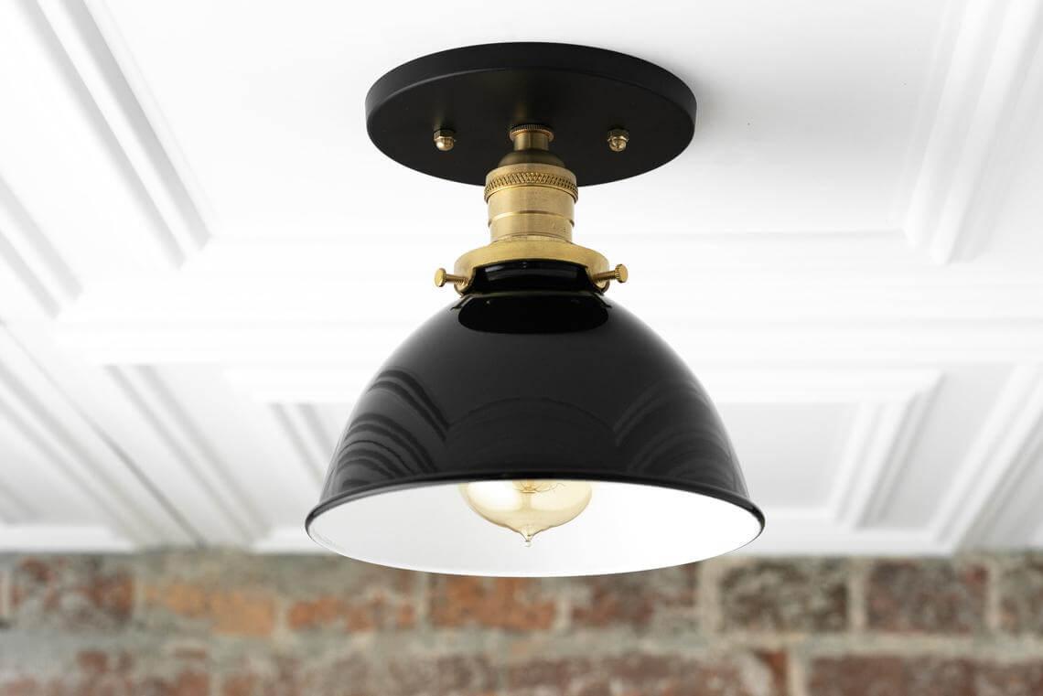 Rustic Black Ceiling Light Fixture