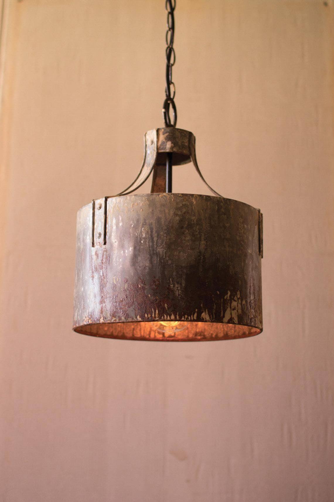 Vintage Cylinder Hanging Pendant Light