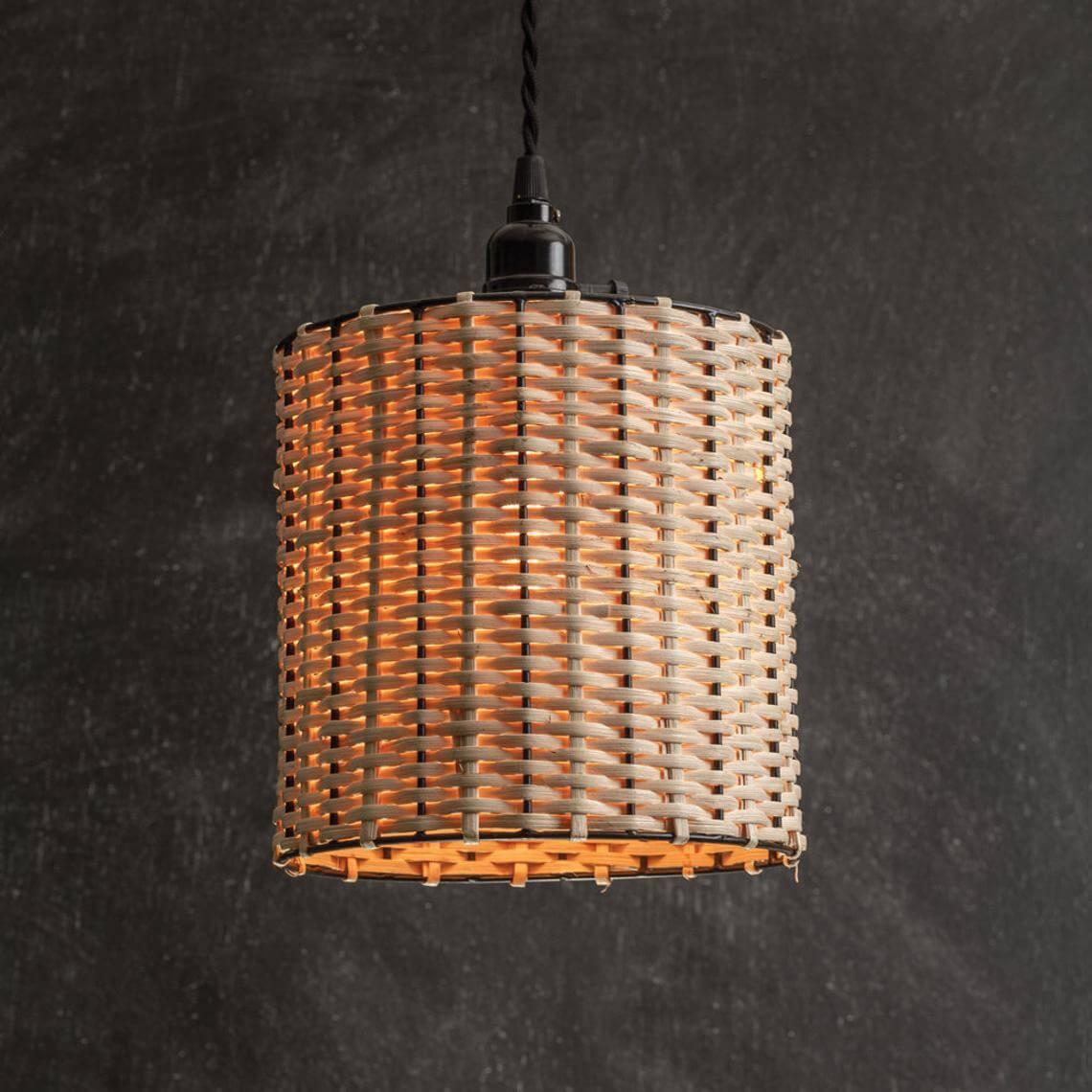 Weaved Decorative Drum Pendant Light