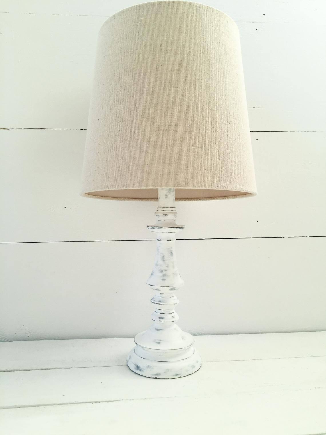 Classic Farmhouse Antique White Lamp