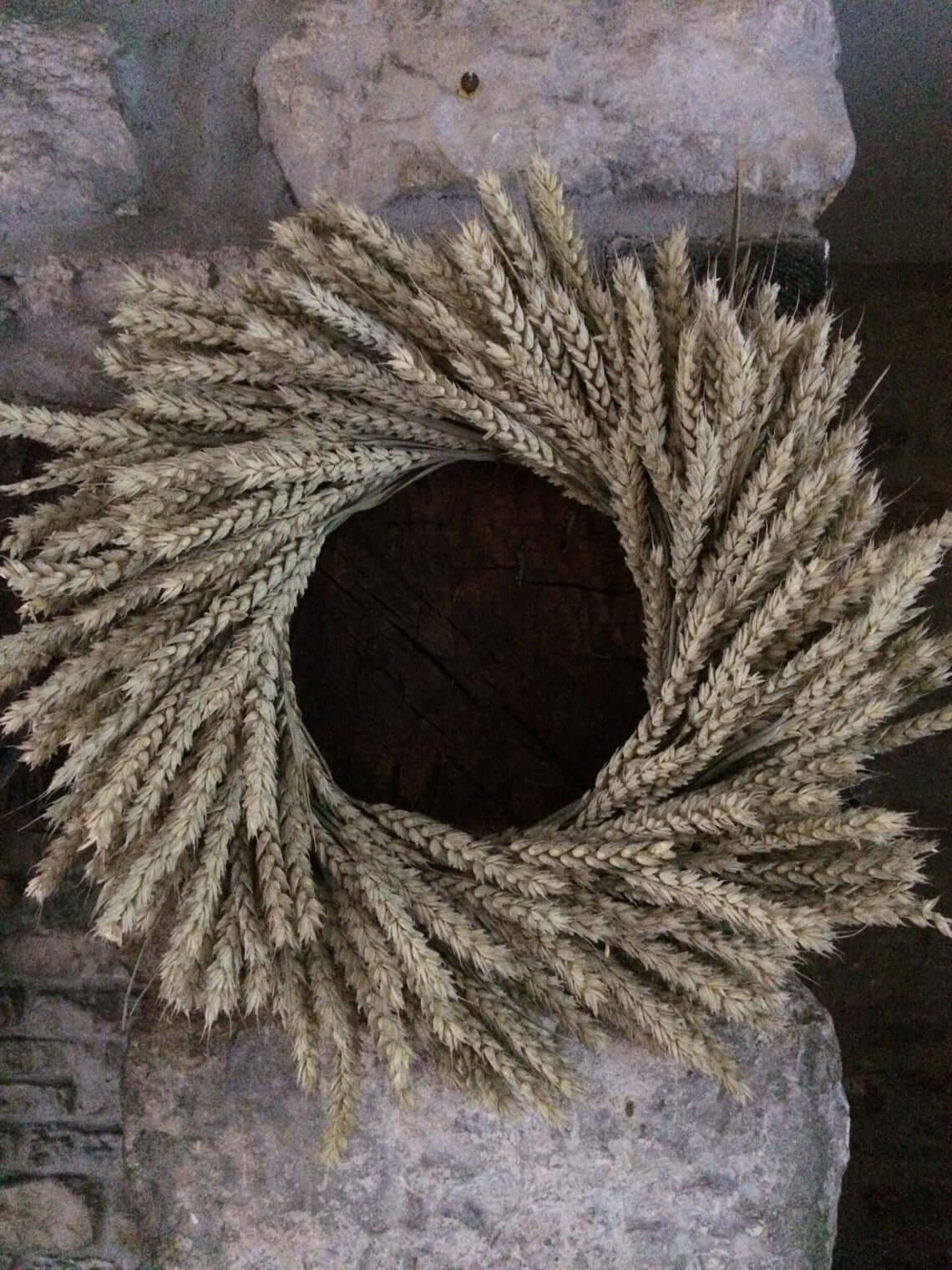 Rustic Fields Amber Waves of Grain Wreath