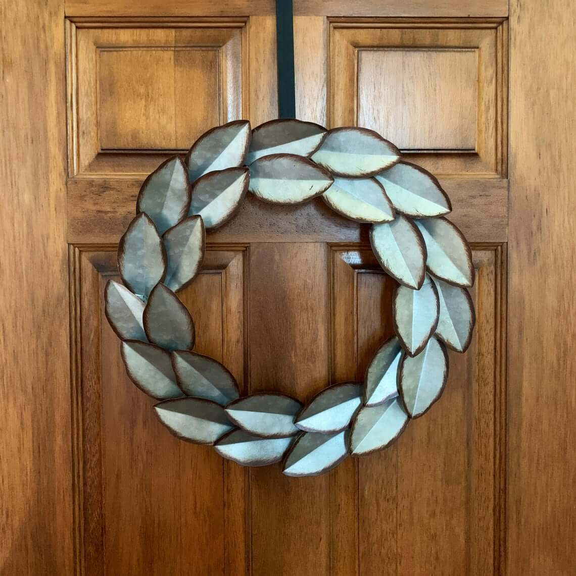 Double Ring Metal Leaf Wreath