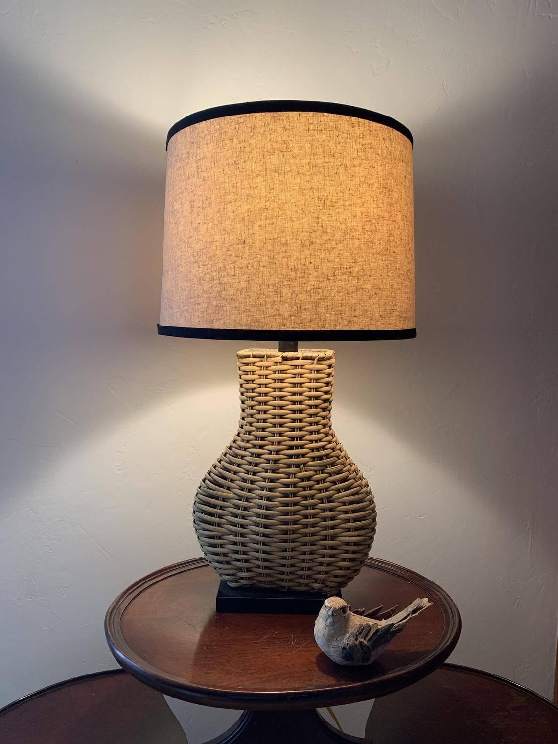 Natural Bohemian Farmhouse Table Lamp