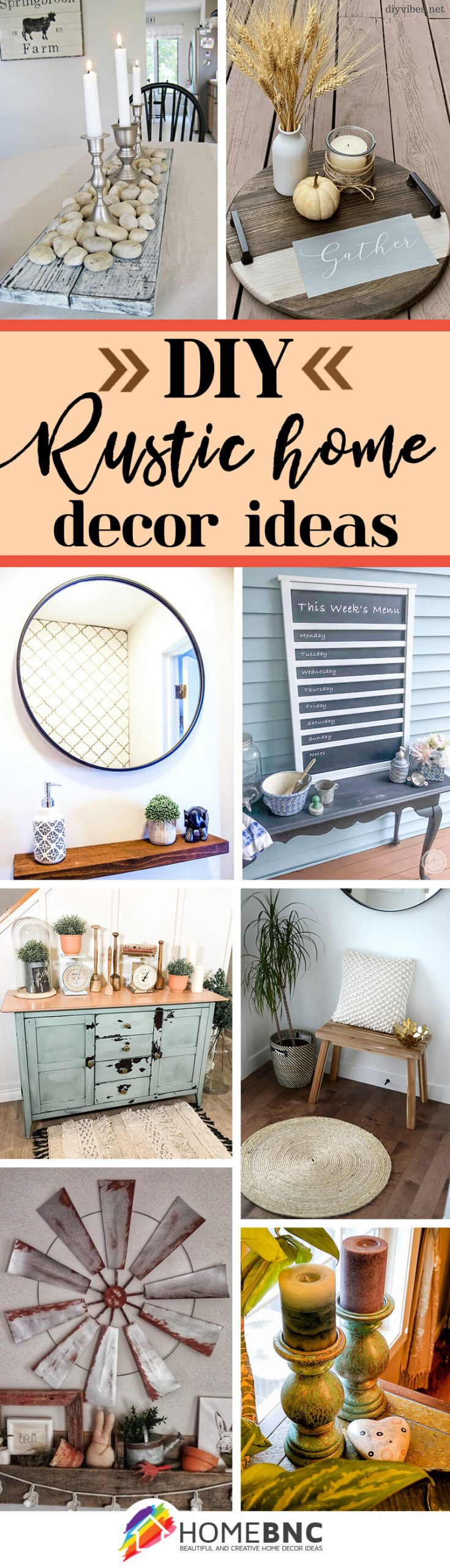 20+ Best DIY Rustic Home Decor Ideas and Designs for 20