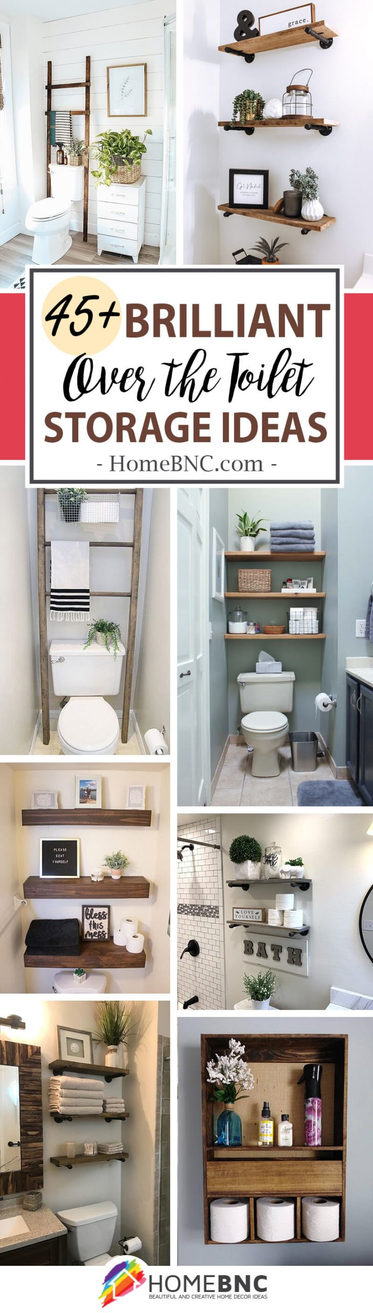 Over The Toilet Storage Ideas