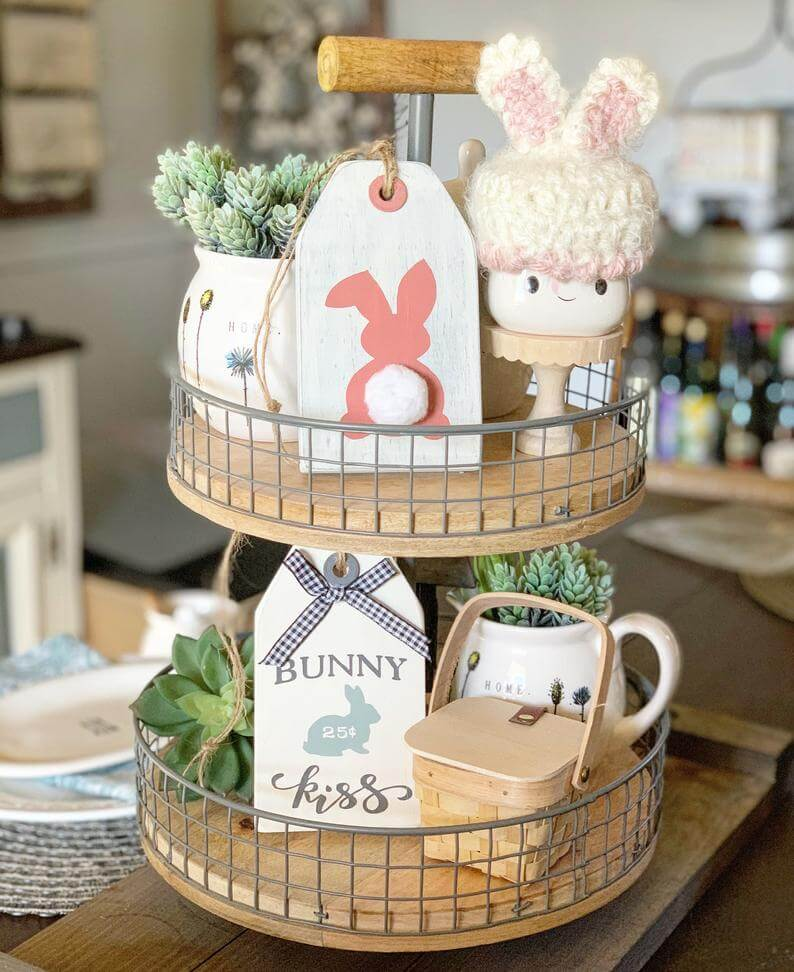 Easter Tag Shaped Wooden Signs