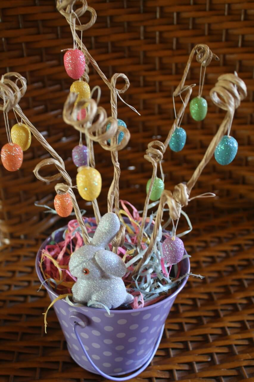 A Creative Children's Easter Tree Pail