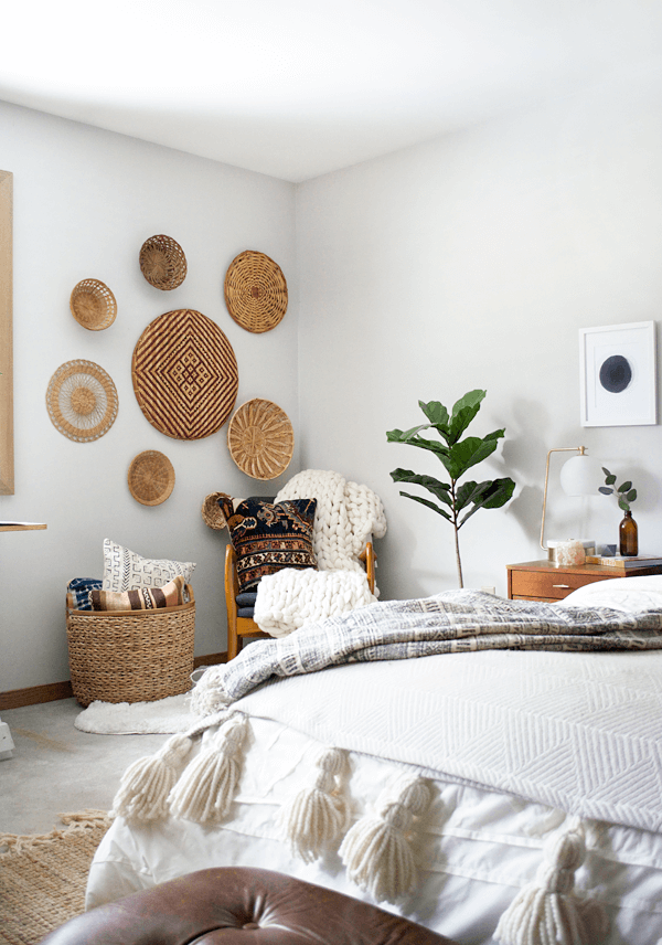 Woven Basket Boho Wall Display