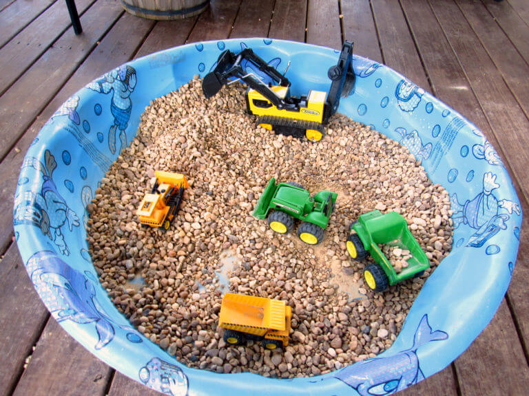 Backyard Construction Zone for Dramatic Play
