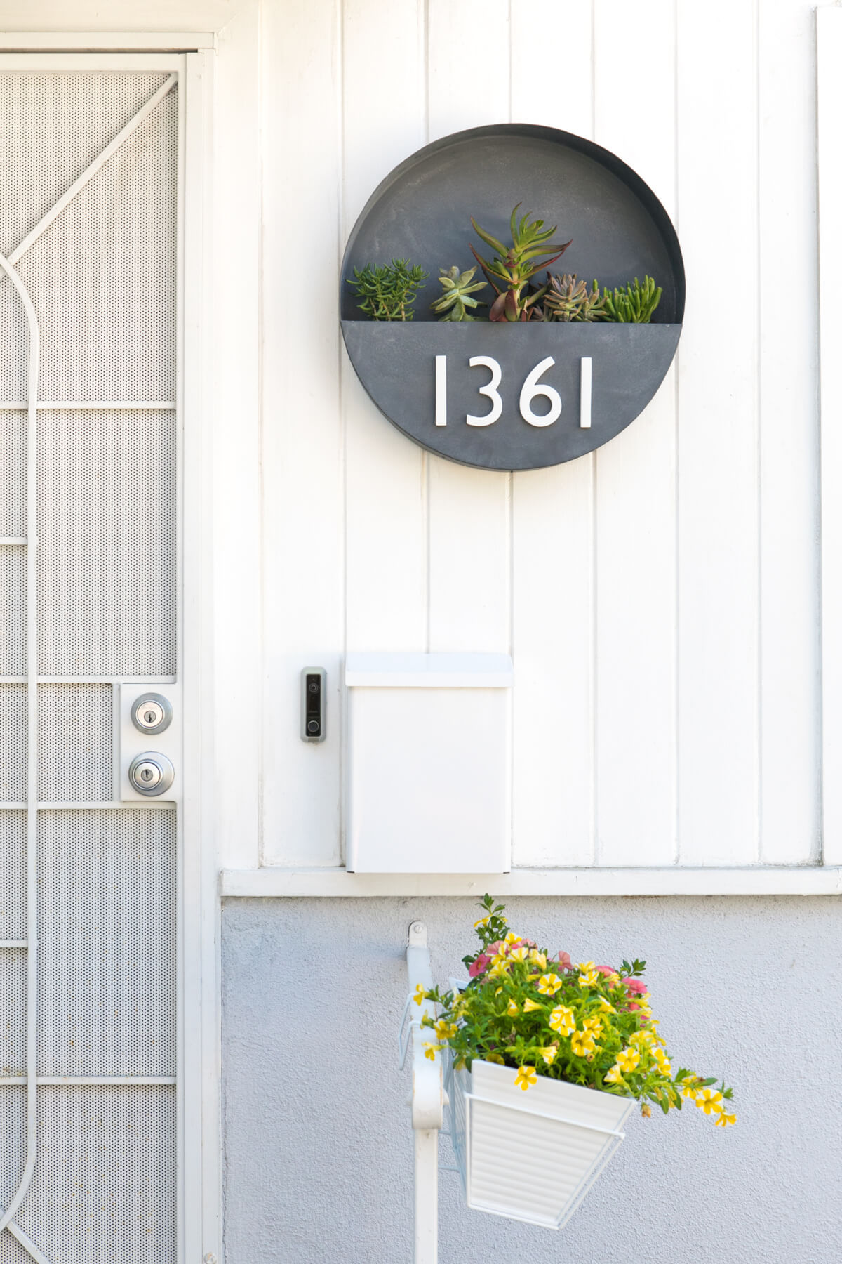 House Number Planter for Porch