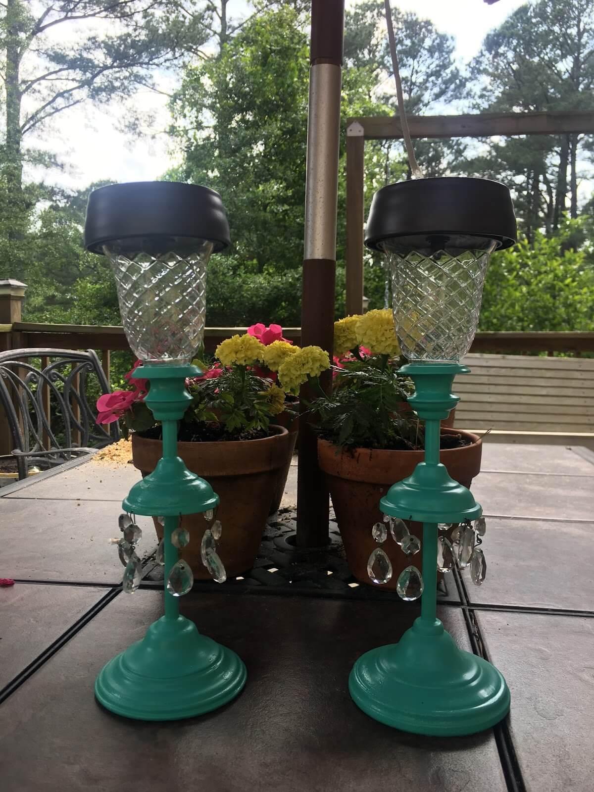 Lovely Solar-Powered Dinner Candles