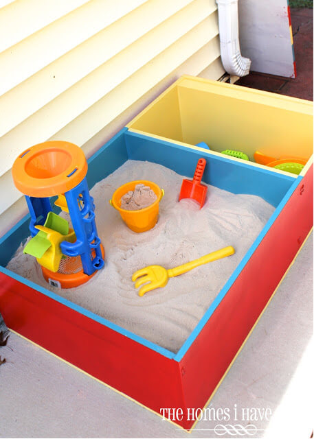Sectional Sandbox with Built-In Storage