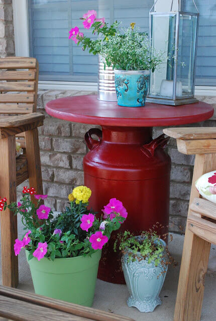 Build Your Own Milk Can Table