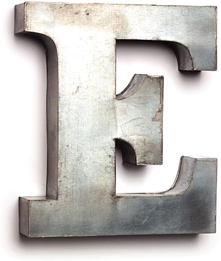 Cool Oversized Tin Single Letter