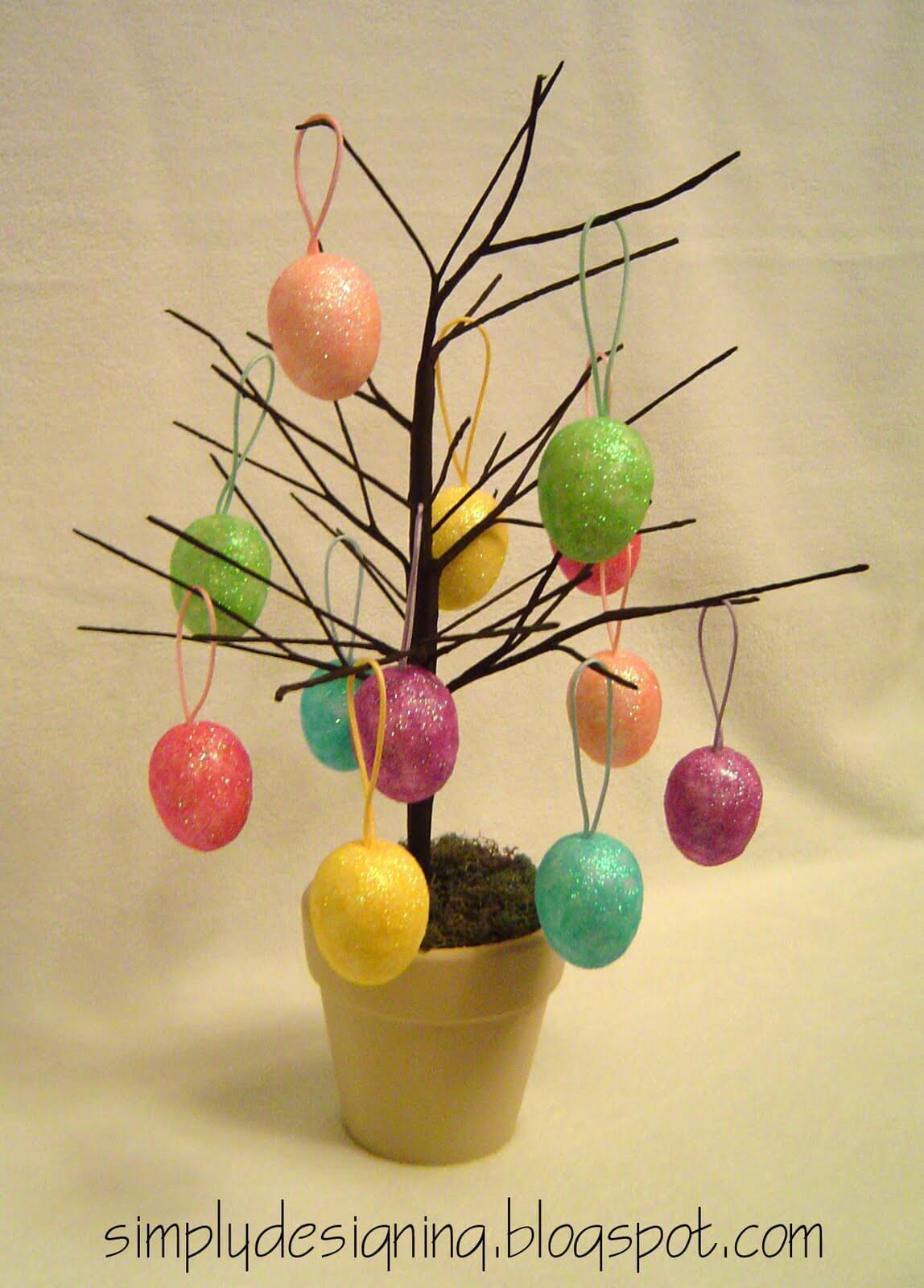 A Budget Friendly Spring Egg Tree
