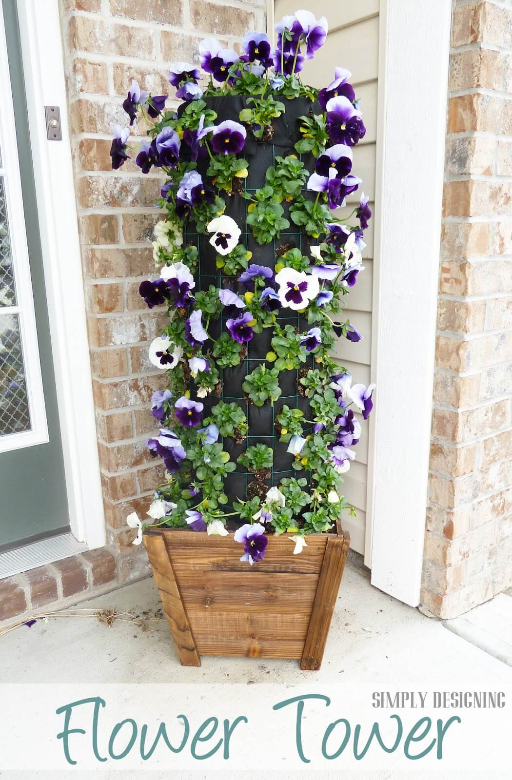 Welcome Your Guests with a Cute Flower Tower