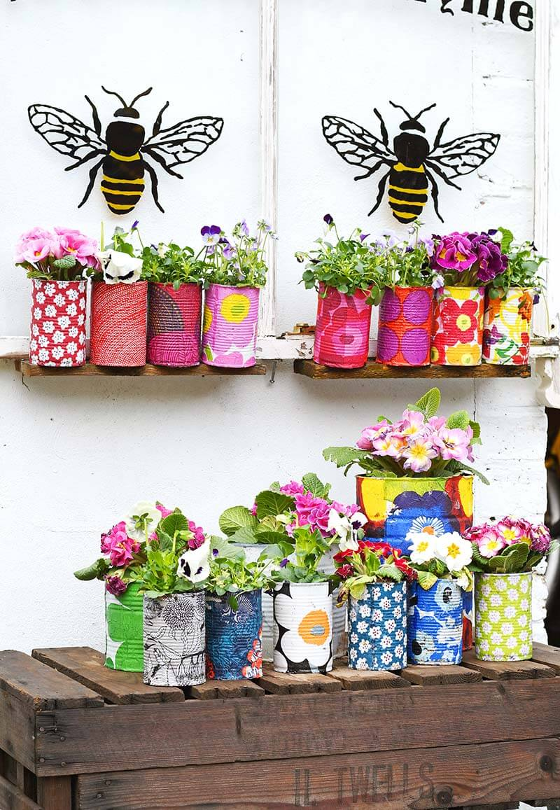 Upcycled Tins As Sweet Garden Highlights