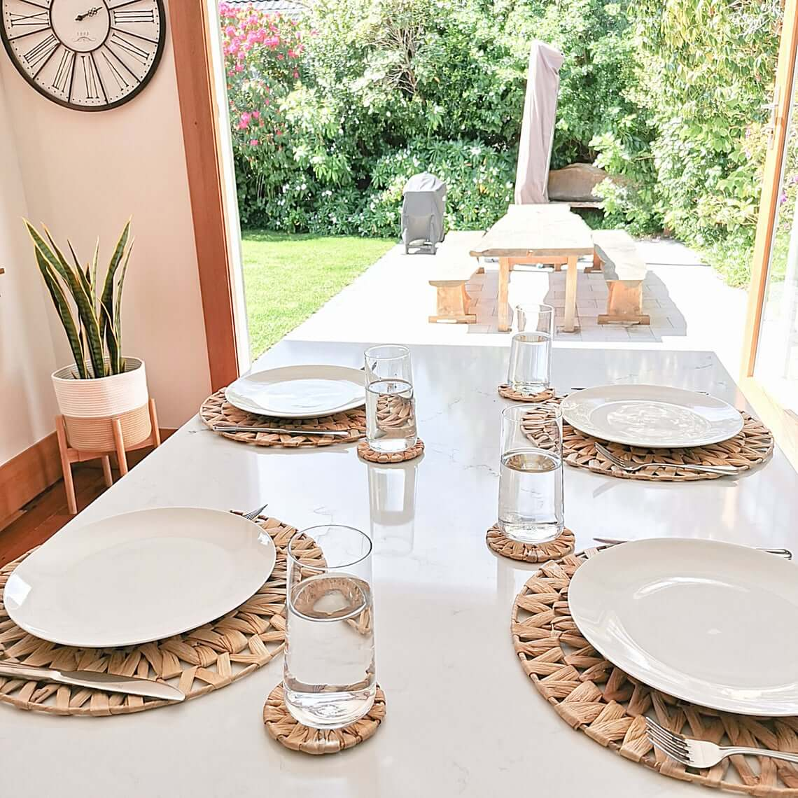 Earthy and Airy Lightweight Seagrass Table Accents