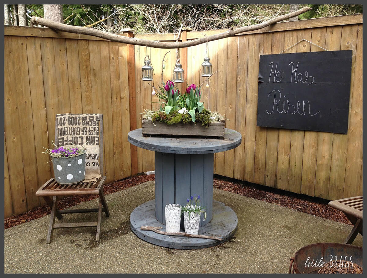Rustic Wooden Box Planter