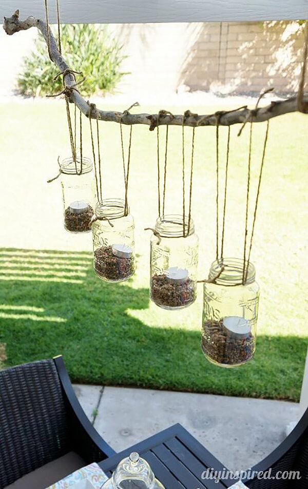 Rustic Mason Jar Creative Candle Display