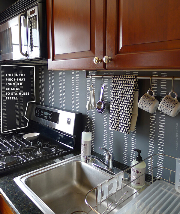 Graphic Black and White Meets Stainless Steel