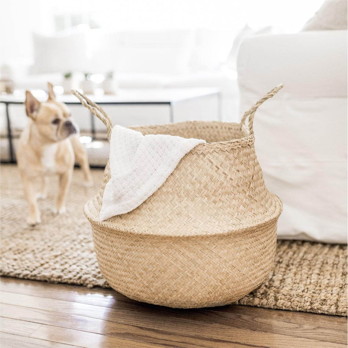 Shades of Beige Catchall Woven Seagrass Basket