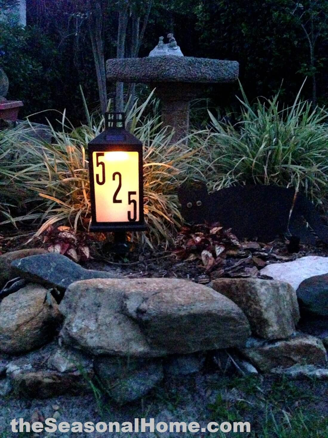 Illuminated House Number Garden Lantern