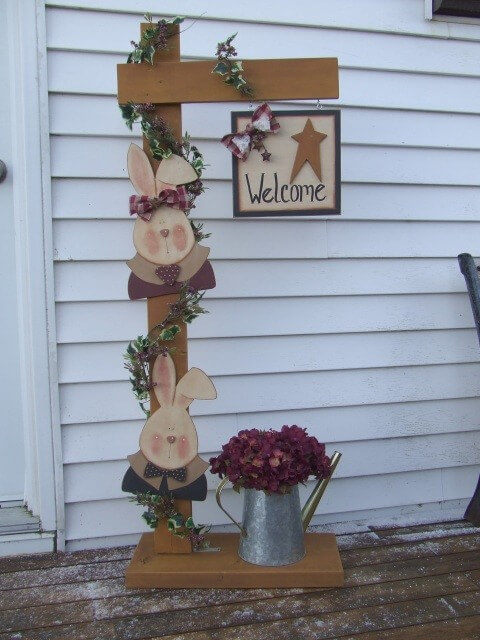 Country Style Decor Welcome Bunny Pattern Packet