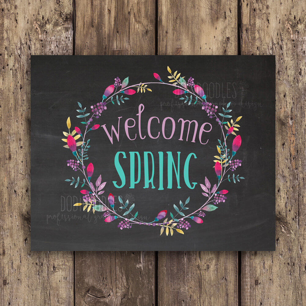 Colorful Welcome Spring Digital Download