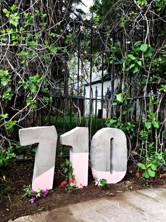 Large Cement House Number Blocks