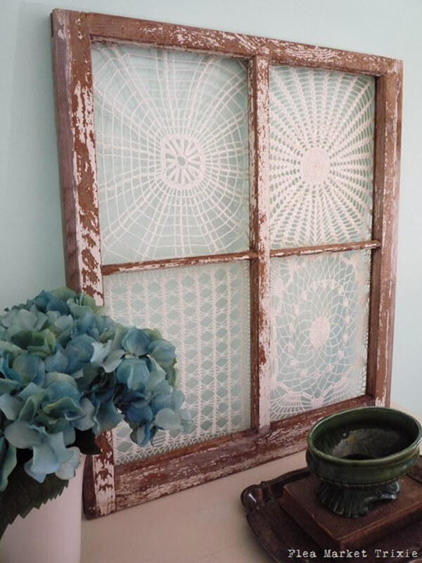 Repurposed Dollies and Window Frame